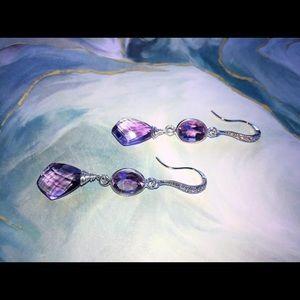 Jewelry - Purple amethyst gemstone earrings!